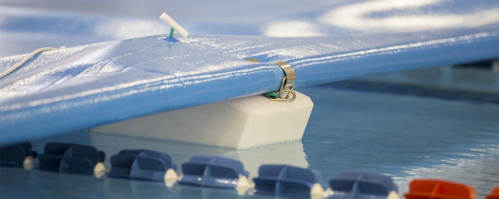 Copertura per piscina a telo - particolare