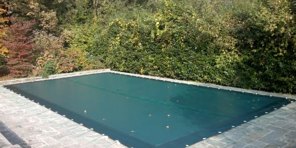 Copertura per piscina a telo teso