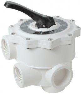 Valvola selettrice manuale a 6 vie in ABS, per la perfetta compatibilità di filtri in vetroresina per piscine.