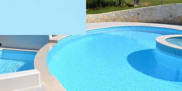 Liner in PVC Azzurro, per piscine.