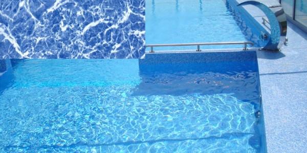 Liner in PVC Blue Marmor, per piscine.