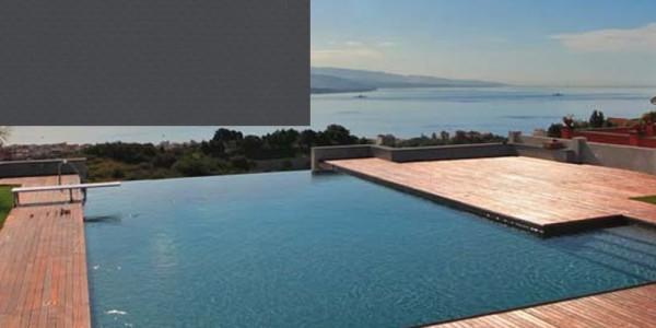Liner in PVC Grigio, per piscine.