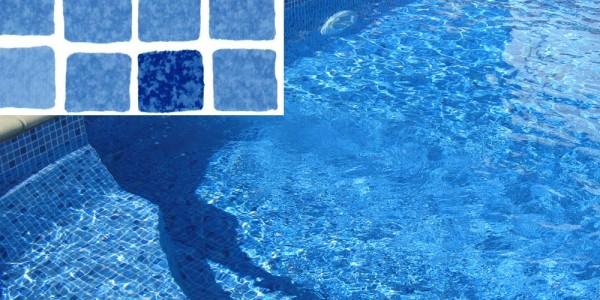 Liner in PVC Mosaico Blu, per piscine.