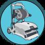 Carrello Caddy robot piscine Dolphin Maytronics